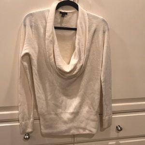 Ann Taylor - Cowl Neck Winter White Sweater